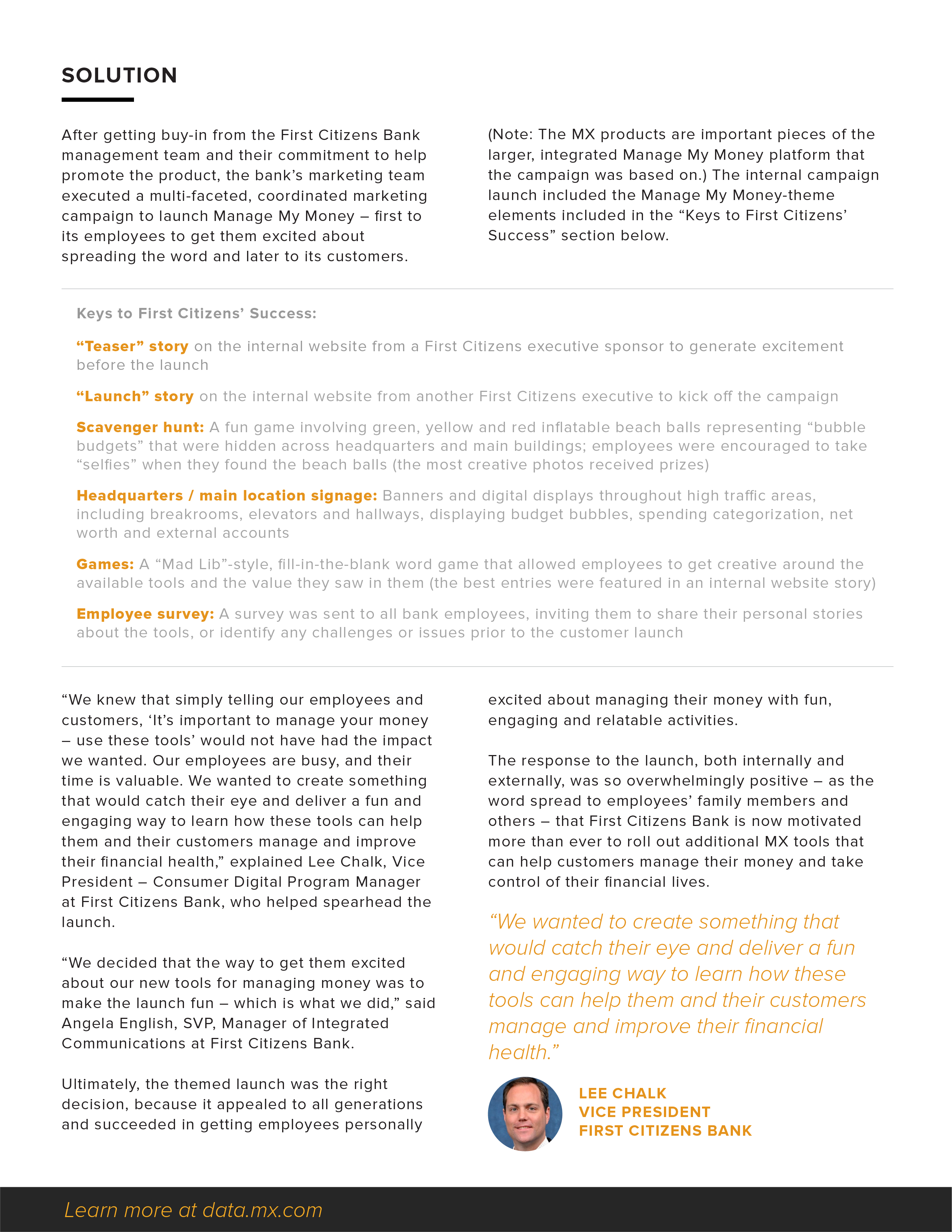 First Citizens Bank case study_page image 2