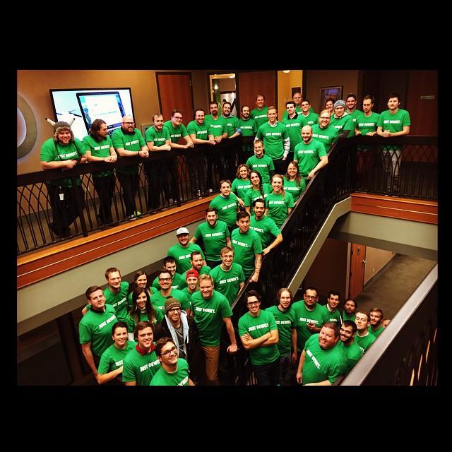 MX Team wearing 'Just Dewitt' t-shirts on a treatment day.
