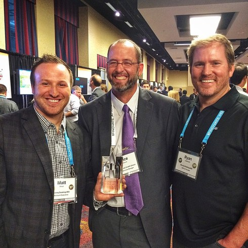 Matt West, Executive Account Manager and Ryan Caldwell, Founder and CEO with America First at FinovateFall 2014!