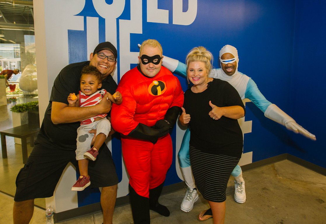 Incredibles 2 Day_Herbas family with Superheroes