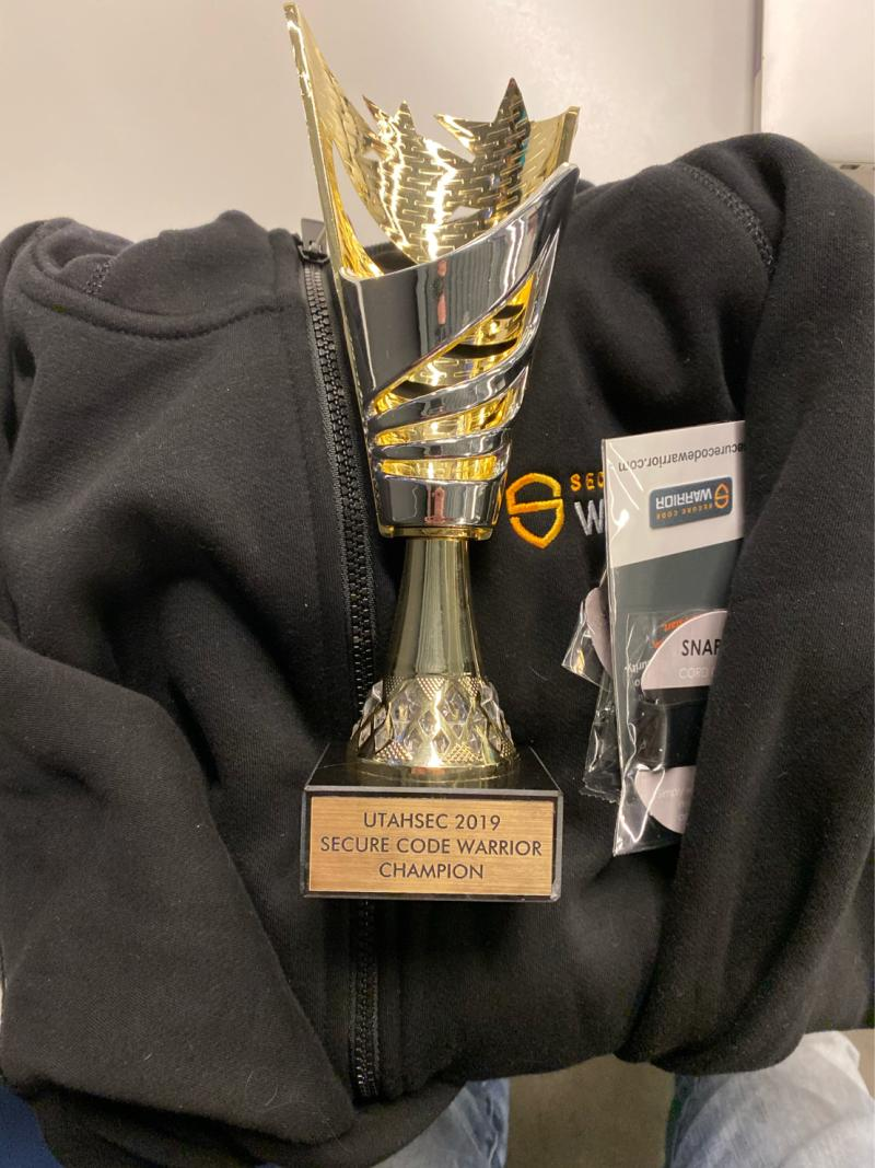UtahSec 2019_Secure Code Warrior Award